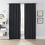 SmartBlock™ Chroma 63-Inch Rod Pocket Blackout Window Curtain Panel in Black