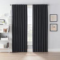 SmartBlock™ Chroma 108-Inch Rod Pocket 100% Blackout Window Curtain Panel in Black