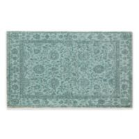 Alfina Zuriel 40-Inch x 24-Inch Bath Rug in Turquoise