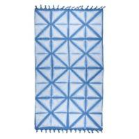 Brielle Pestemal Turkish Cotton Bath Towel in Blue