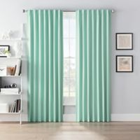 SmartBlock™ Chroma 63-Inch Rod Pocket 100% Blackout Window Curtain Panel in Green