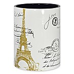 CHF Industries Paris Gold Wastebasket