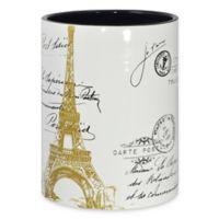 CHF Industries Paris Gold Wastebasket