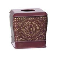 Popular Bath Cascade Boutique Tissue Box Holder in Burgundy