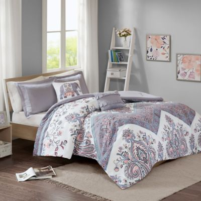 Superb Intelligent Design Kylie Twin/Twin XL Duvet Cover Set In Lilac