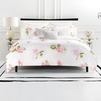 kate spade new york Breezy Magnolia Reversible King Comforter Set in White