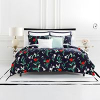 kate spade new york Hummingbird Reversible King Comforter Set in Navy