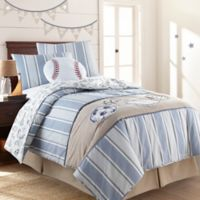 Levtex Home Little Sport Twin Quilt Set in Blue/Taupe