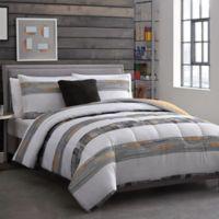 Decker 3-Piece Reversible Twin XL Comforter Set in Grey