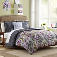 Nomad 3-Piece Reversible Twin/Twin XL Comforter Set in Grey