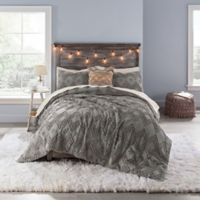 Anthology™ Chevron Tufted Full Comforter Set in Grey