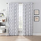 SmartBlock™ Chroma 63-Inch Back Tab Blackout Window Curtain Panel in Grey/White