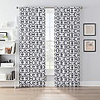 SmartBlock™ Chroma 63-Inch Back Tab Blackout Window Curtain Panel in White/Black