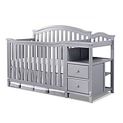 Sorelle Berkley 4-in-1 Convertible Crib and Changer in Grey - Bed ...
