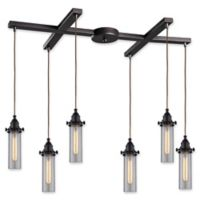 Elk Lighting Fulton 33-Inch 6-Light Pendant Light in Clear