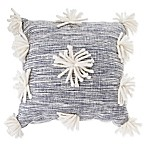 Anthology™ Henley Woven Pom Pom Square Throw Pillow in Blue