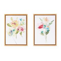 Madison Park™ Bloom Bouquet 54.86-Inch x 39.62-Inch Framed Canvas Wall Art (Set of 2)