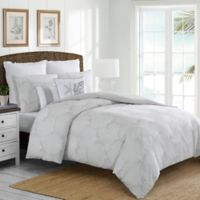 Coral Waters King Duvet Cover Set in Grey