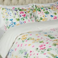 Wildflower Meadow King Duvet Cover Set in White