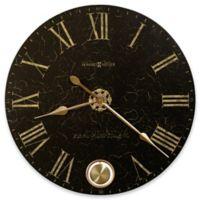 Howard Miller London Night Wall Clock in Black Crackle