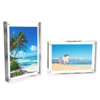 Nottingham Home 4-Inch x 6-Inch Clear Acrylic Block Frames(Set of 2)
