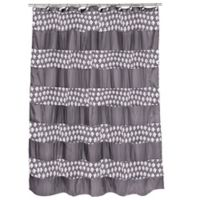 Popular Bath Sinatra Shower Curtain in Silver