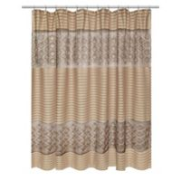 Popular Bath Spindle Shower Curtain in Gold