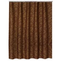Popular Bath Cascade Shower Curtain In Burgundy