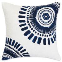 Trina Turk Samba De Roda Square Throw Pillow in Dark Blue