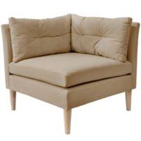 Varick Linen Corner Chair in Sand