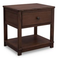 Delta Cali Nightstand with Drawer and Shelf in Oak