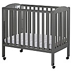 Dream On Me 3-in-1 Folding Portable Crib in Steel Grey