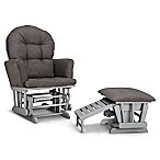 Graco® Parker Semi-Upholstered Glider in Pebble/Grey with Ottoman