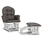Graco® Parker Semi-Upholstered Glider in White/Grey with Ottoman