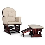 Graco® Parker Semi-Upholstered Glider in Cherry/Beige with Ottoman