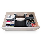 Bee Neat Tension Drawer Organizer in Grey (Set of 6)