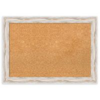 Amanti Art Medium Framed Cork Board with Alexandria Whitewash