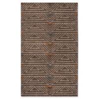 Safavieh Ann Stone Wash 5' x 8' Area Rug in Dark Brown
