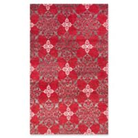 Safavieh Jenna Damask 5' x 8' Area Rug in Red