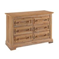 Baby Relax Macy 6 Drawer Double Dresser In Natural Rustic