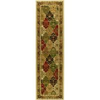 Safavieh Lyndhurst Diamond Patchwork 2-Foot 3-Inch x 8-Foot Rug in Ivory/Multi