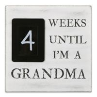 The PeanutShell™ Grandma Countdown 8-Inch Square Chalkboard in Black/White