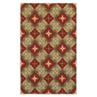 Tommy Bahama Atrium Geometric 5' x 8' Indoor/Outdoor Area Rug in Red/Brown