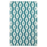 Tommy Bahama Atrium Tile-Work Indoor/Outdoor 3'6 x 5'6 Area Rug in Blue