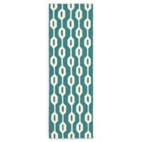 Tommy Bahama Atrium Tile-Work Indoor/Outdoor 2'6 x 8' Runner in Blue