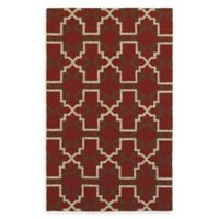 Tommy Bahama Atrium Geometric Indoor/Outdoor 3'6 x 5'6 Area Rug in Red