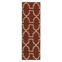 Tommy Bahama Atrium Geometric Indoor/Outdoor 2'6 x 8' Runner in Red