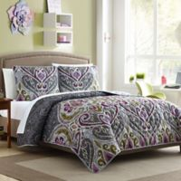 Nomad Reversible Twin/Twin XL Quilt Set in Grey