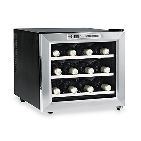 Wine Enthusiast Silent 12-Bottle Wine Refrigerator with Stainless Steel Trim Door  sc 1 st  Bed Bath u0026 Beyond & Wine Enthusiast Silent 12-Bottle Wine Refrigerator with Stainless ...