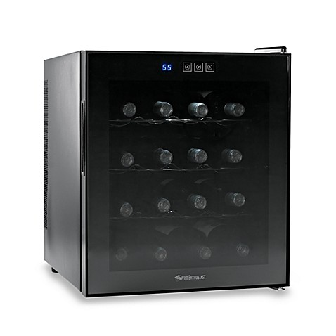 Wine Enthusiast Silent 16-Bottle Touchscreen Wine Refrigerator